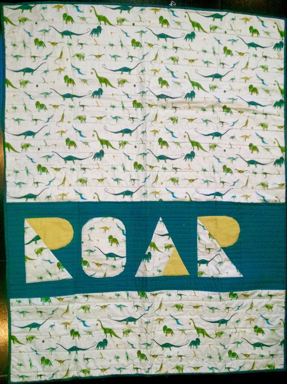 ROAR by Anna Carloni using I Spy The Alphabet pattern by Terri Carpenter