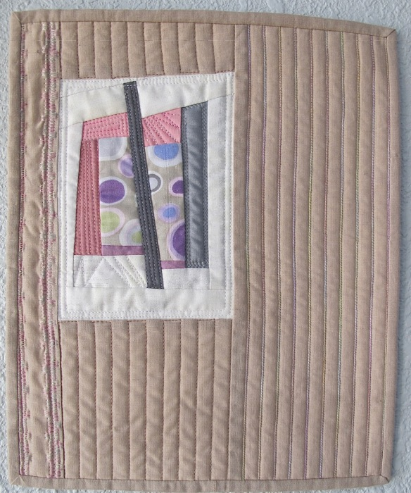 Miniature quilt by Cathy Miranker