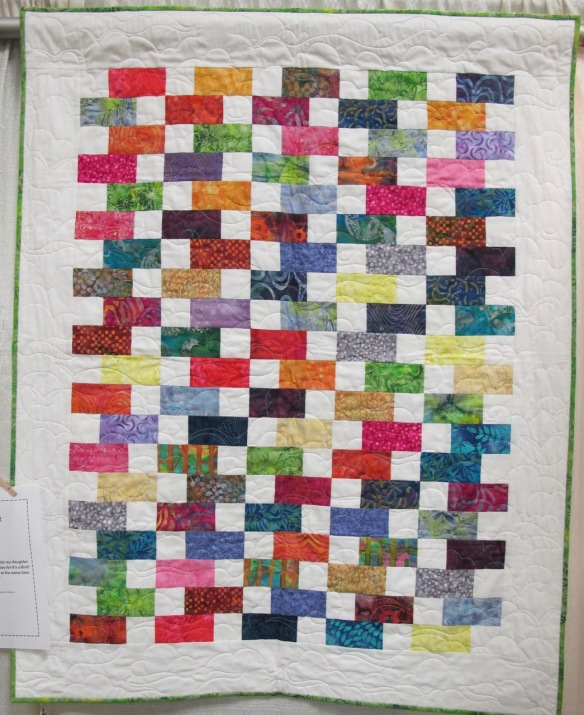 Baby Bricks by Adrienne Hickman, quilted by Laura Lee Fitz