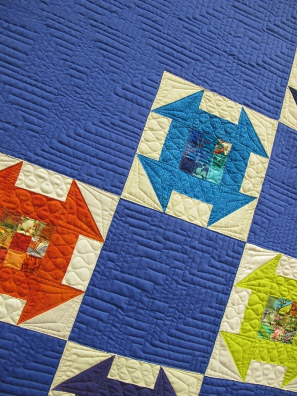Untitled by Juna Carle, quilted by Teresa Silva