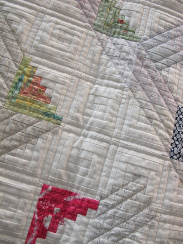 Whimsical Logs by Letitia Chung, quilted by Laurie Grant
