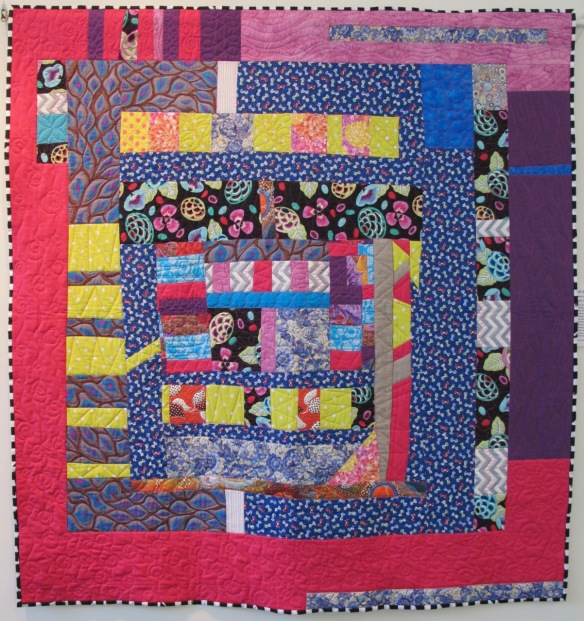 Lift Off by Chancy Fessler and EBMQ, quilted by Sue Fox