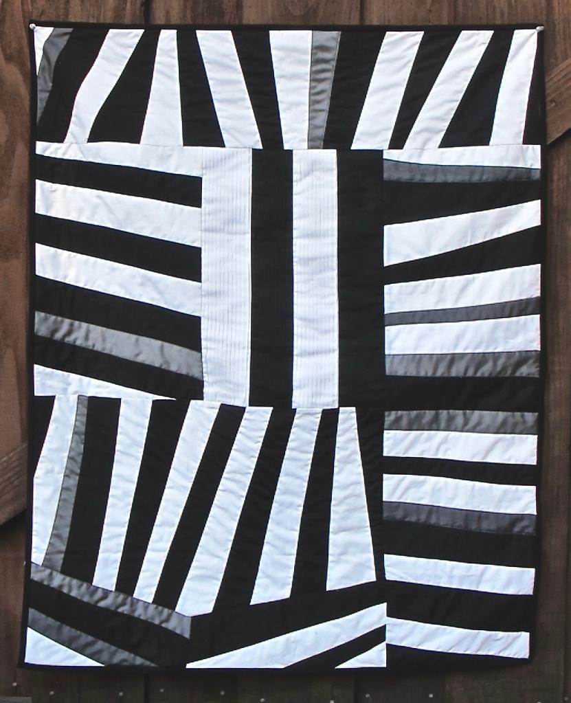 Tux Shirt by Carol Van Zandt. Quilting by Hello Stitch